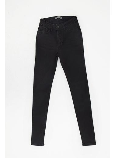 Modaset Normal Bel Skinny Jean Pantolon Mavi Siyah
